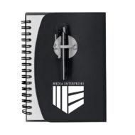 Spiral Notebook with Shorty Pen-Black Custom Logo