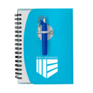 Spiral Notebook with Shorty Pen-Blue Custom Logo
