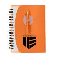 Spiral Notebook with Shorty Pen-Orange Custom Logo