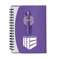 Spiral Notebook with Shorty Pen-Purple Custom Logo