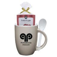 Logo Spooner Mug with Cake Mix