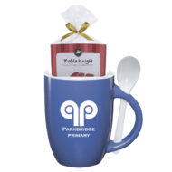 Logo Spooner Mug with Cake Mix
