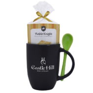 Promotional Custom Logo Spooner Mug With Mug Cake 12oz