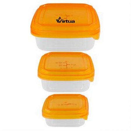 Promotional Custom Logo Square Portion Control Containers