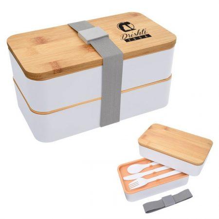 Promotional Custom Logo Stackable Bento Lunch Set