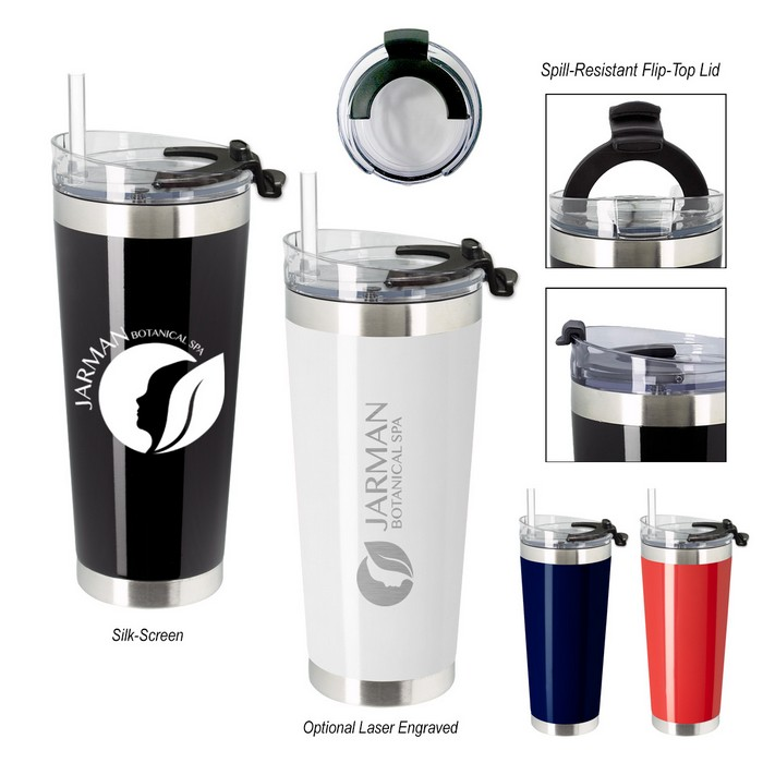Stainless Steel Cobra Travel Tumbler 28oz Progress Promotional Products