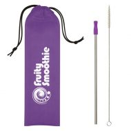 Promotional Custom Logo Stainless Steel Straw Kit