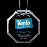 Promotional Custom Logo Starfire Ornaments - Full Color Imprint