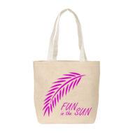 Custom Logo Straw Supersize Tote Bag Group