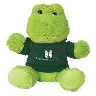 Promotional Custom Logo Stuffed Plush Fantastic Frog 6inch