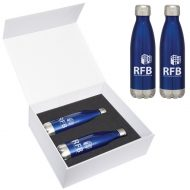 Promotional Custom Logo Swiggy Stainless Steel Bottle Gift Set 16oz
