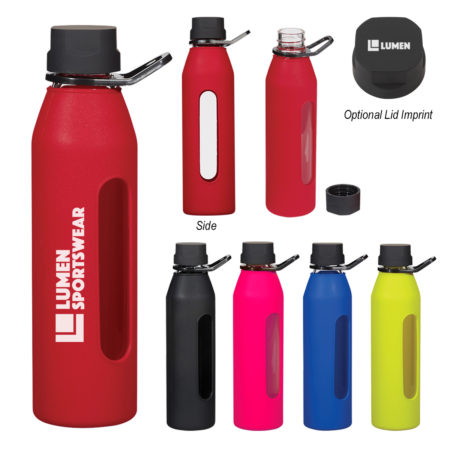 Promotional Products - Imprinted Water Bottles - Custom Promotional Items - Stainless Steel Water Bottle - Synergy Glass Water Bottle 24oz