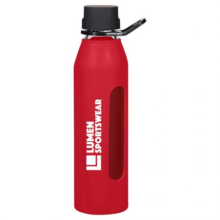 Promotional Custom Logo Synergy Glass Water Bottle 24oz