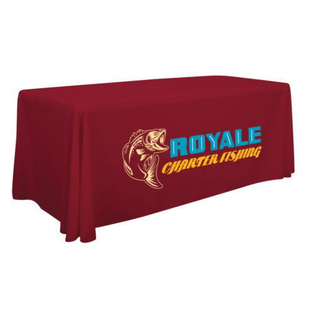 Promotional Products - Imprinted Table Throw - Logo Table Cover - Tradeshow Booth - Company Table Throw