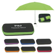 Promotional Travel Telescopic Umbrella with Eva Case