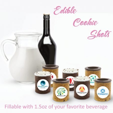 Custom Logo Edible Cookie Shot Glass