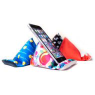 Promotional Products - Imprinted Phone Stands - Corporate Giveaways - Custom Printed Phone Stand Microfiber Screen Cleaner