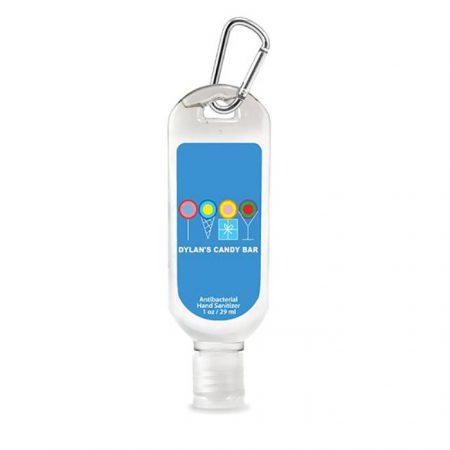 Promotional Antibacterial hand Sanitizer Tottle Bottle 1oz with Logo
