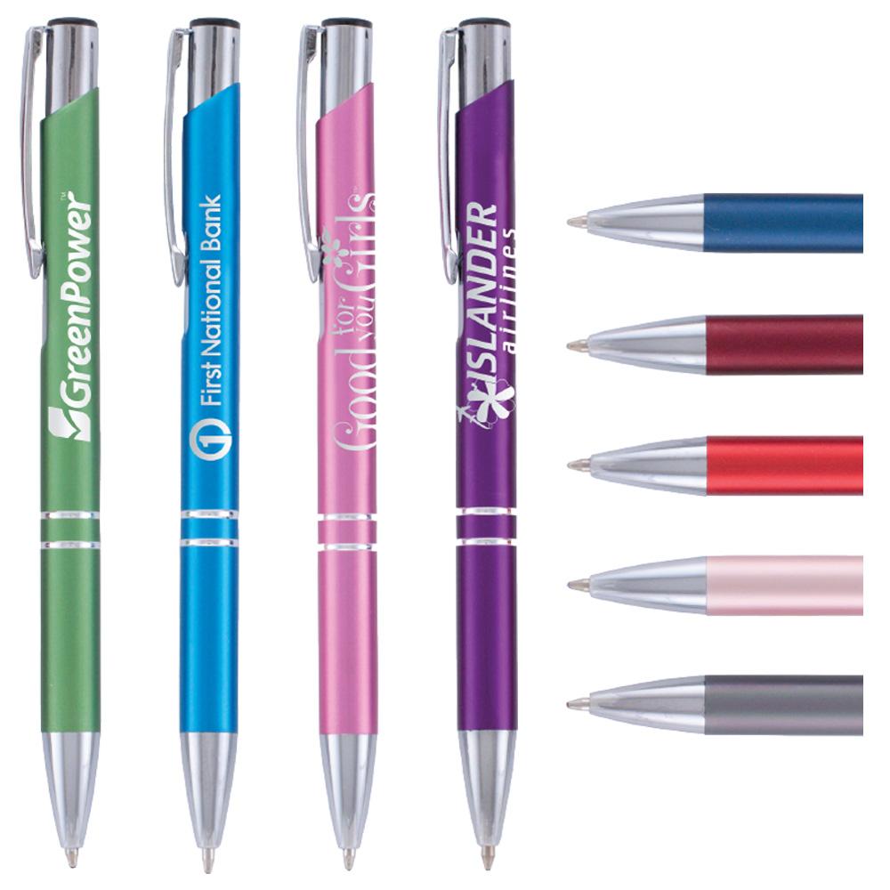 Tres Chic Matte Click Pen Laser Engraving Progress Promotional Products