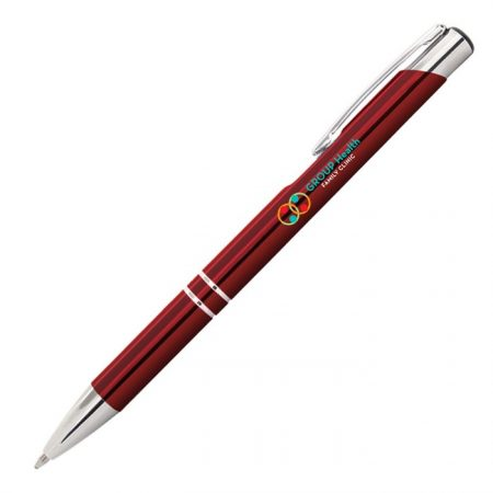 Promotional Custom Logo Tres-Chic Pen - Full Color Imprint