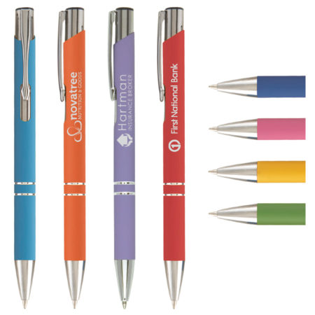 Promotional Pens - Logo Pens - Business Pens - Tres-Chic Softy Brights Click Pen