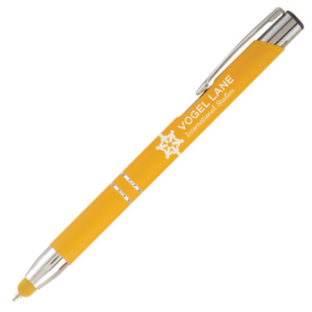 Promotional Pens - Logo Pens - Business Pens - Tres-Chic Softy Brights Stylus Pen