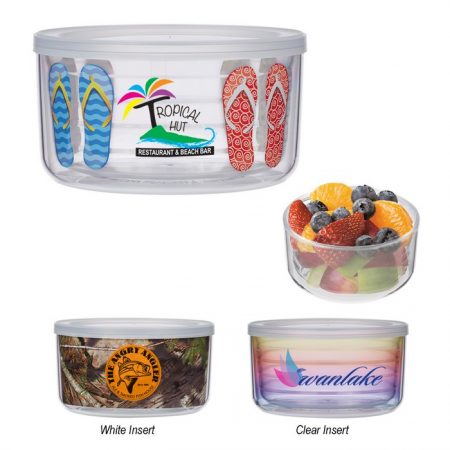 Promotional Custom Logo Tritan™ Food Storage Bowl 22oz