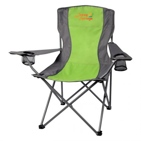 Promotional Custom Logo Two-Tone Folding Chair With Carrying Bag