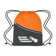 Custom Logo Promotional Two-Tone Sports Drawstring Bag