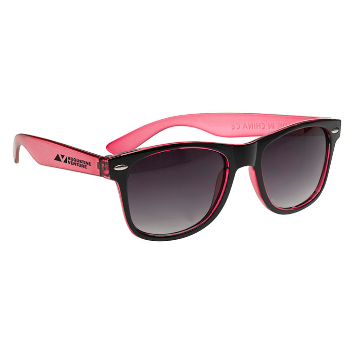 a2bd2a3c01c Two-Tone Translucent Malibu Sunglasses - Progress Promotional Products