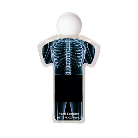 Custom Uniform Hand Sanitizer Gel Bottle - Skeletone
