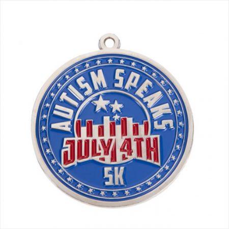 Promotional Custom Logo Up to 4 Fill Color on 1 Side Zinc Medallion