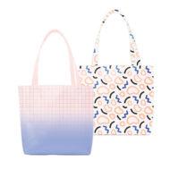 Custom Logo Vegan Leather Birdie Tote Bag White