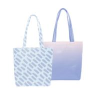 Custom logo Vegan Leather Daily Grind Tote Bag White