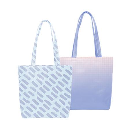 Custom logo Vegan Leather Daily Grind Tote Bag White
