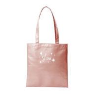 Custom logo Vegan Leather Supersize Main Squeeze Tote Bag rose gold