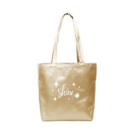 Custom logo Vegan Leather Supersize Tote Bag gold