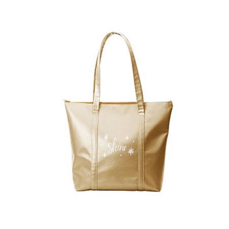 Custom logo Vegan Leather Twinkles Tote Bag gold