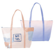 Custom logo Vegan Leather Weekender Tote Bag