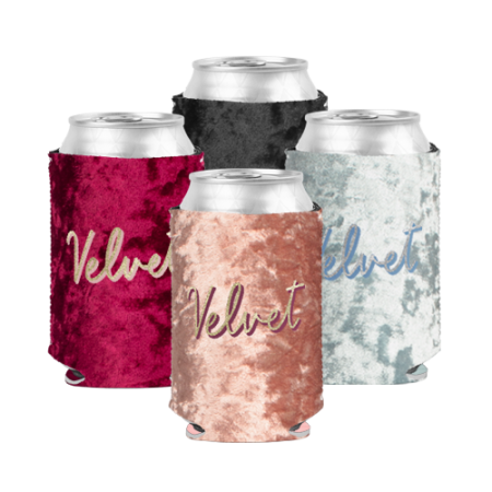 Promotional Products - Velvet Neoprene Can Coolie