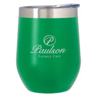 Promotional Custom Logo Vinay Stemless Wine Glass 12oz
