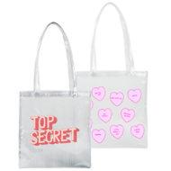 Custom logo Vinyl Super Size Main Squeeze Tote Bag