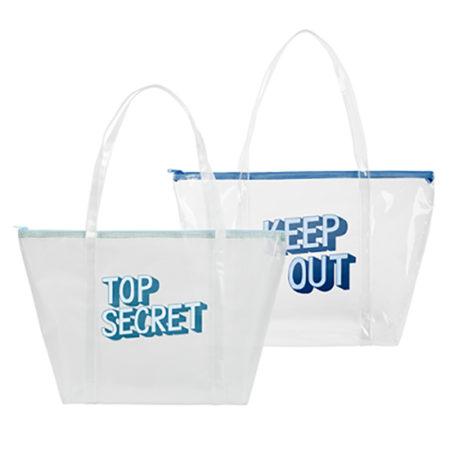 Custom logo Vinyl Weekender Tote Bag