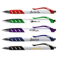 Promotional Custom Imprinted White Allure Grip Pen