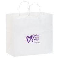 "Promotional Custom Logo Eco-Friendly Paper Handle Take-Out Shopper Bag 13"" x 12.75"" x 7"""