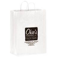 "Promotional Custom Logo White Eco-Friendly Paper Shopper 13"" x 17"" x 7"""