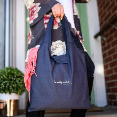 Promotional Custom Logo Willow Cotton Packable Tote