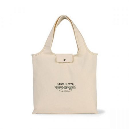 Promotional Custom Logo Willow Deluxe Cotton Packable Tote