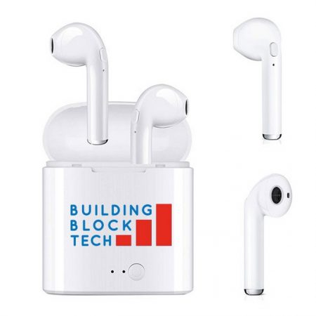 Promotional Custom Logo Wireless Stereo Bluetooth Headphones Air-Buds