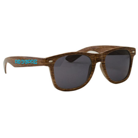 Promotional Products - Wood Grain Miami Sunglasses